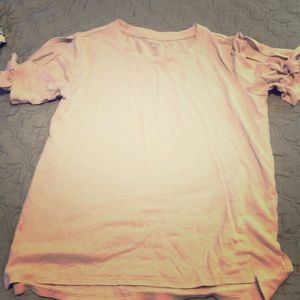 Old Navy Pink T-Shirt with Tie Sleeves, size 10/12